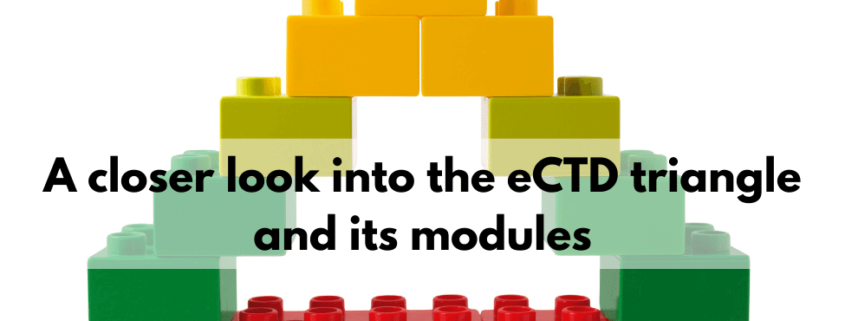 A closer look into the eCTD triangle and its modules