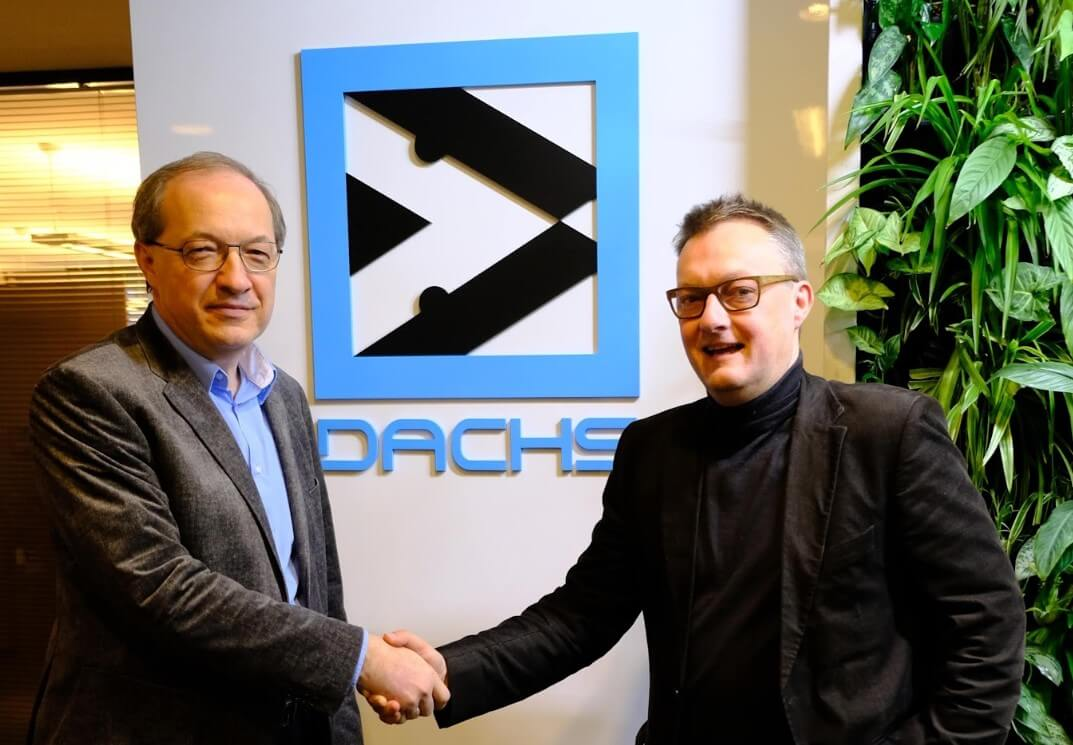 Image: Ede Faludi - CEO DACHS with Geert van Peteghem - CEO DocShifter