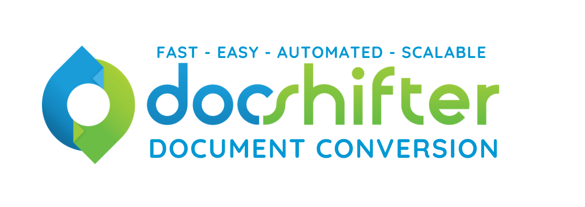 DocShifter company logo | easy,fast,scalable, automated document conversion software for enterprises with a transparent background for the website
