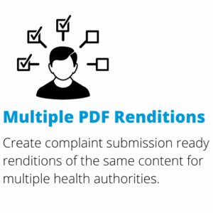 multiple pdf renditions for multiple health authorities (FDA, EMA, PMDA and many more) with DocShifter's compliant PDF configurations