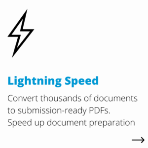 lightning speed | DocShifter document conversion software for Life Sciences benefits
