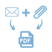 Create merged pdf file containing email message and all attachments icon-Docshifter-mail to pdf converter