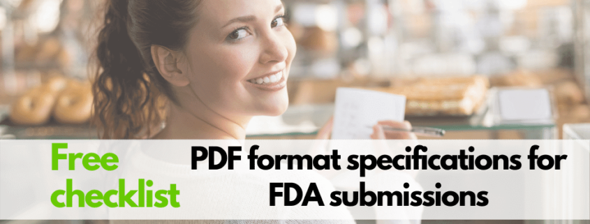 PDF requirements for US FDA submissions (Free checklist)