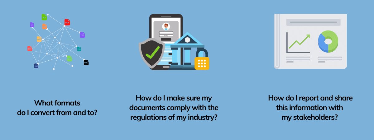 How do you design an enterprise file conversion platform? What are key requirements to look at? Supported file formats, regulatory compliance and reporting capabilities.